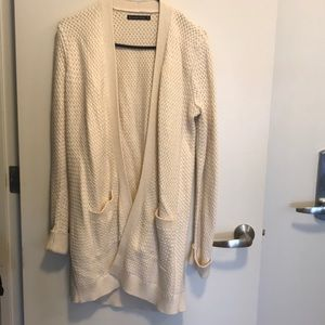 A&F Cream Long Sweater